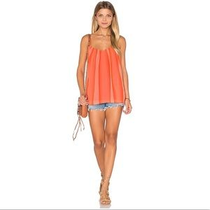 Trina Turk | carnival coral gamela flowy ombre top